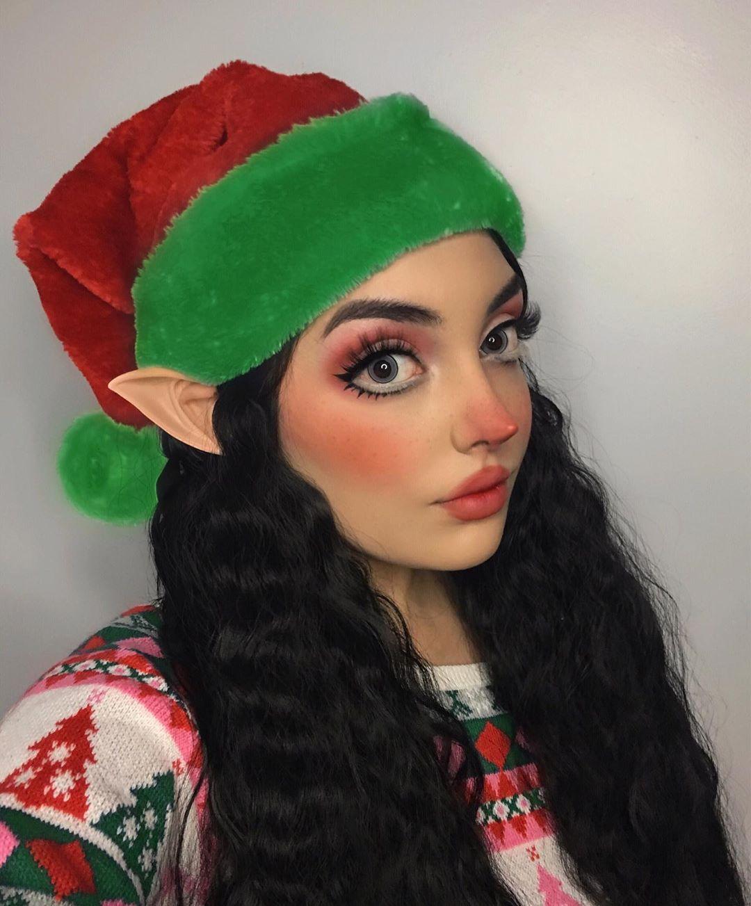 Magic Grey Colored Contact Lenses Christmas elf makeup