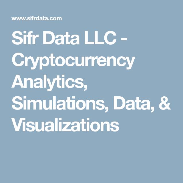 Sifr Data LLC - Cryptocurrency Analytics, Simulations, Data