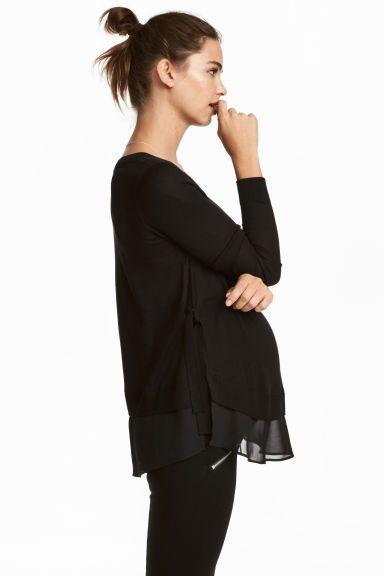 3742cbb69 MAMA Sweter dla karmiącej - Czarny - ONA