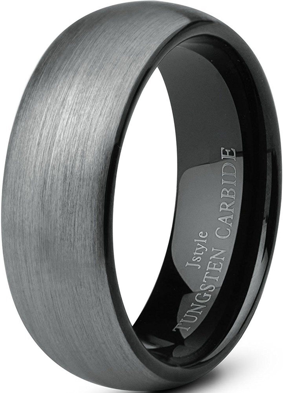 Jstyle Jewelry Tungsten Rings For Men Wedding Band Black Ring 8mm