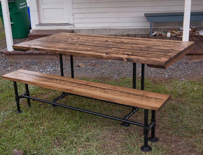Pipe Legs Work Great For Picnic Table And Benches