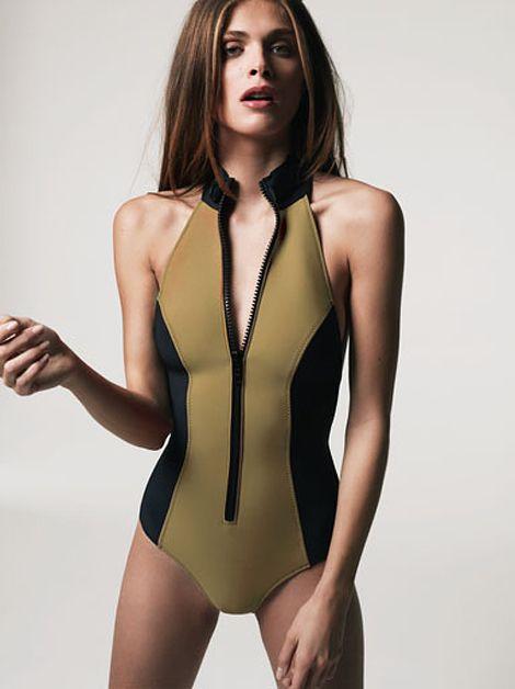 099fe5ddaa4 Neoprene swimsuit | Fashion in 2019 | Swimwear fashion, Swimwear ...