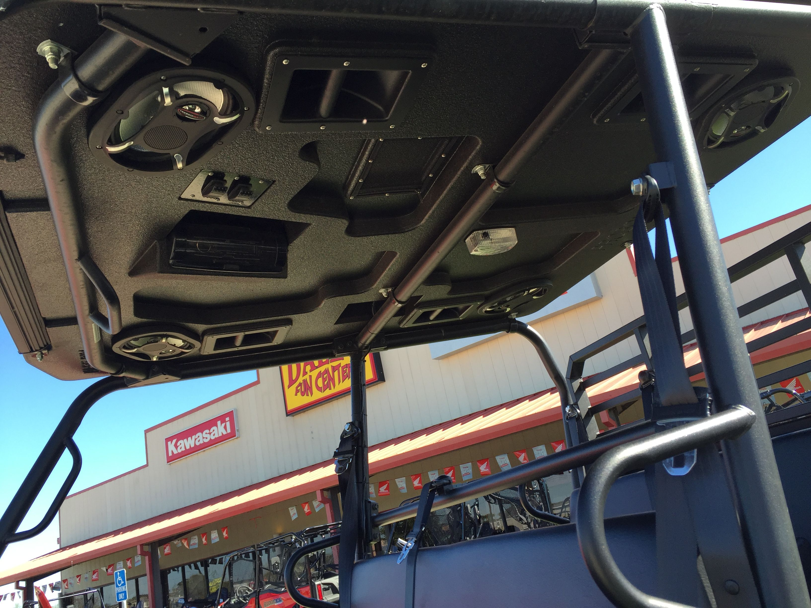 Custom Roof Sound System On A Kawasaki Pro Fxt Kawasaki