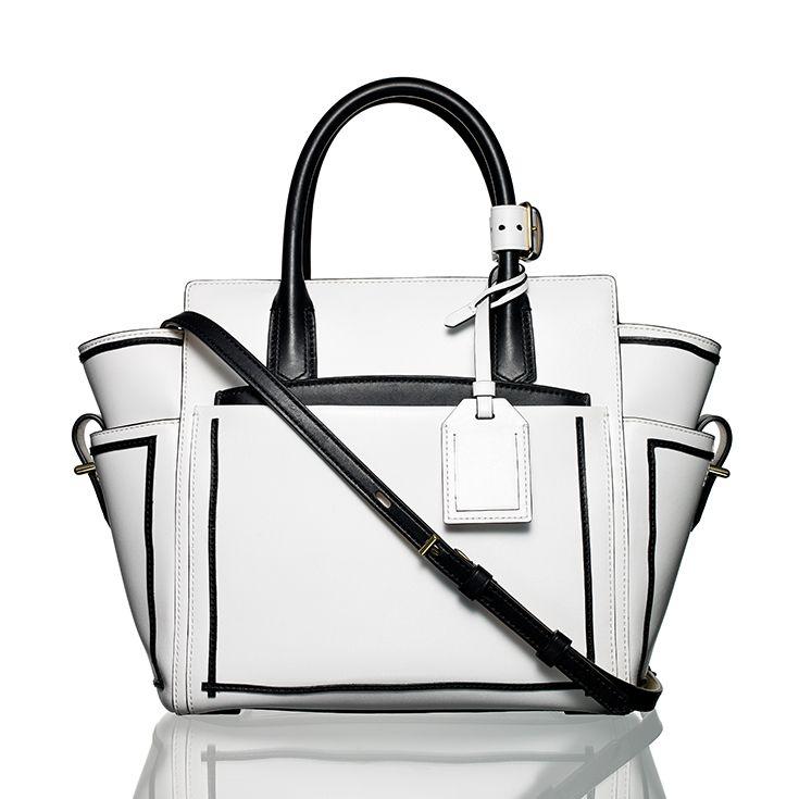 Reed Krakoff Mini Atlantique handbag. #reedkrakoff #blackandwhite #tote #tophandlebag