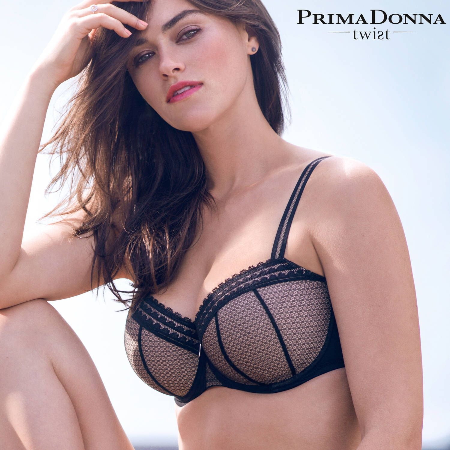 PRIMADONNA TWIST I Want You Soutien-gorge balconnet rembourré noir ... 1b4c3078dc5