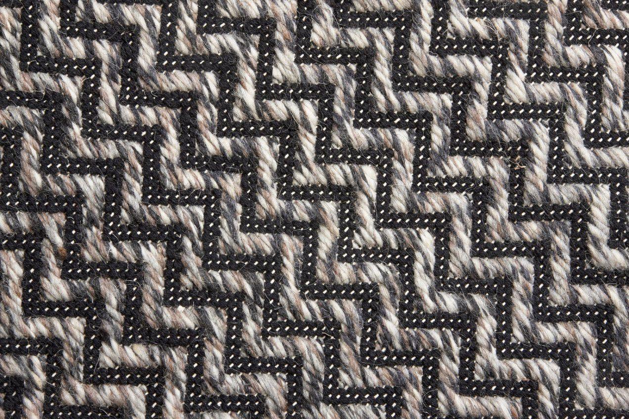 SIKSAK-villamatto 80 X 200 cm musta-harmaa