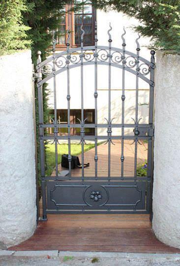 Puerta Para Jard N De Hierro Forjado La Maestria