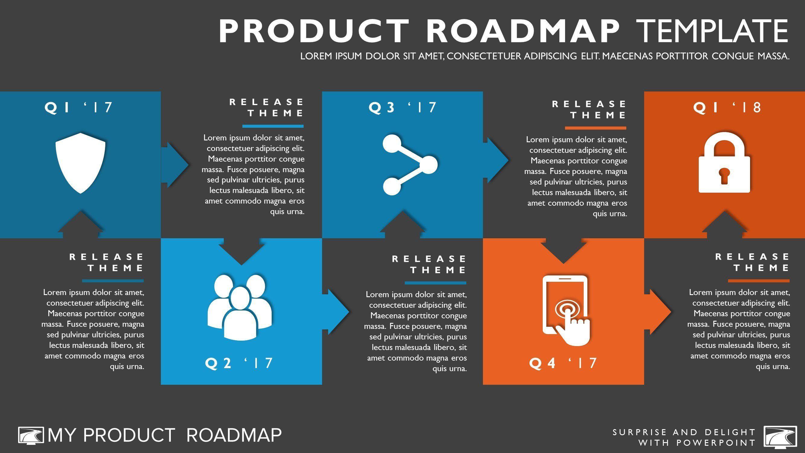Agile Timeline Roadmapping Presentation Diagram