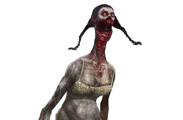 This is an image of a spitter from the game, Left 4 Dead 2