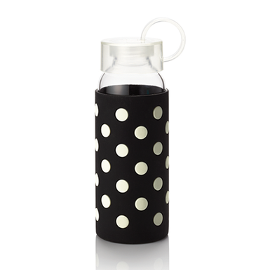 Picture 1 of ksny Water Bottle - Black Dots