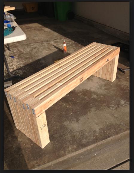 diy 2x4 bench garden benches pinterest garten b nke und holz. Black Bedroom Furniture Sets. Home Design Ideas