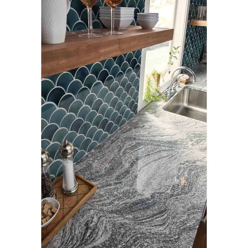 Domino 10 X 13 Fish Scale Porcelain Mosaic Tile In 2020 Mermaid Tile Mosaic Tiles Scallop Tiles