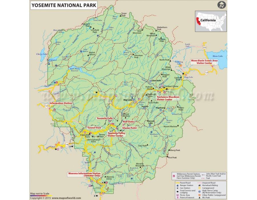 Buy Yosemite National Park Map | US Maps | Pinterest | Yosemite ...