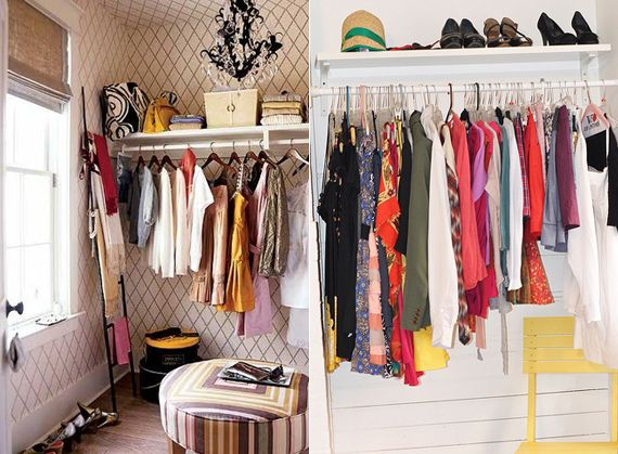 temporary solutions diy wardrobe clothing closet no abercrombies storage clothes ideas racks shoe club