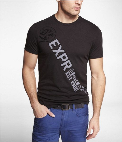 bd1f5cdc Express Mens Graphic Tee Expr Diagonal Black, X Small Graphic Tees, Graphic T  Shirts
