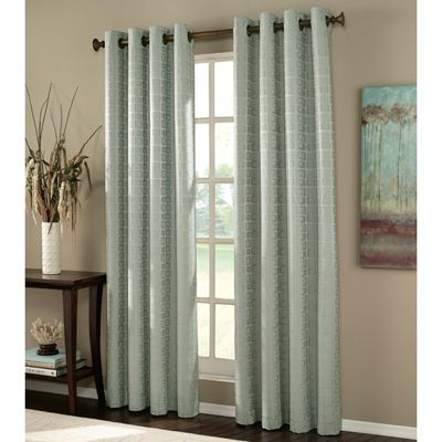 Patterned Drapes With Heavy Dark Wood Rod My Home