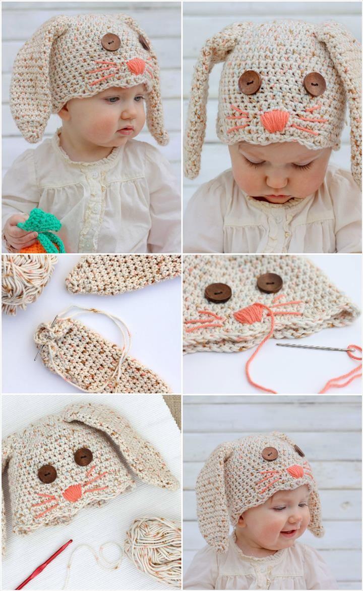 17 Free Crochet Baby Beanie Hat Patterns | Gorros, Tejido y Gorritos ...