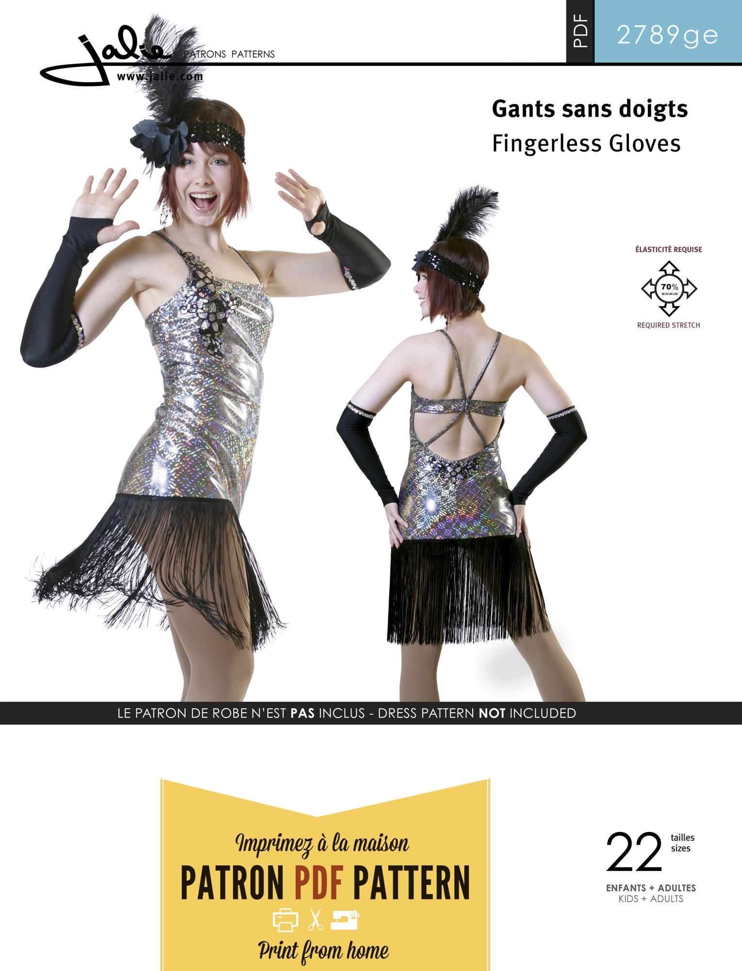 Jalie 2789 - Fingerless Gloves / Arm warmers PDF Pattern | PDF ...