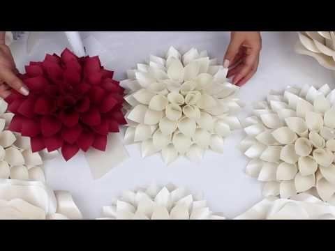 natacha créative, fleurs de papier géantes - youtube | fleurentine