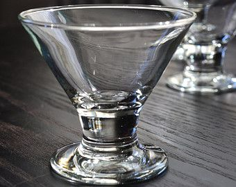 Libbey Cosmo Glasses Vintage Barware Mad Men Set Of 4 Small Cocktail  Cordial Footed Pedestal Glasses