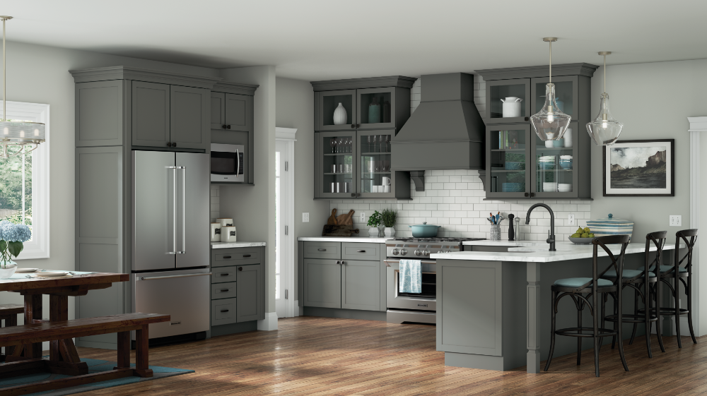 Peterson Maple Graphite | Grey kitchen, Kitchen remodel ...