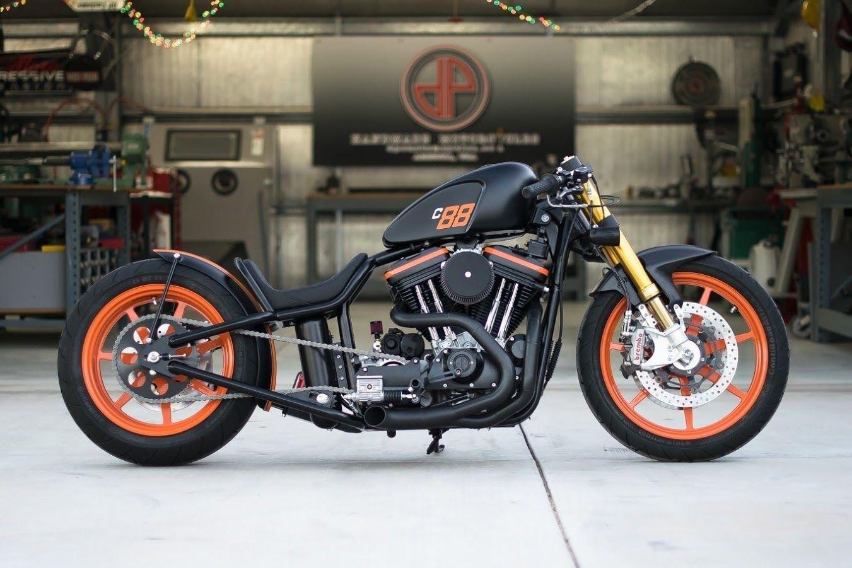 Genuine Harley Davidson Motorcycles Bikers Orange Flames