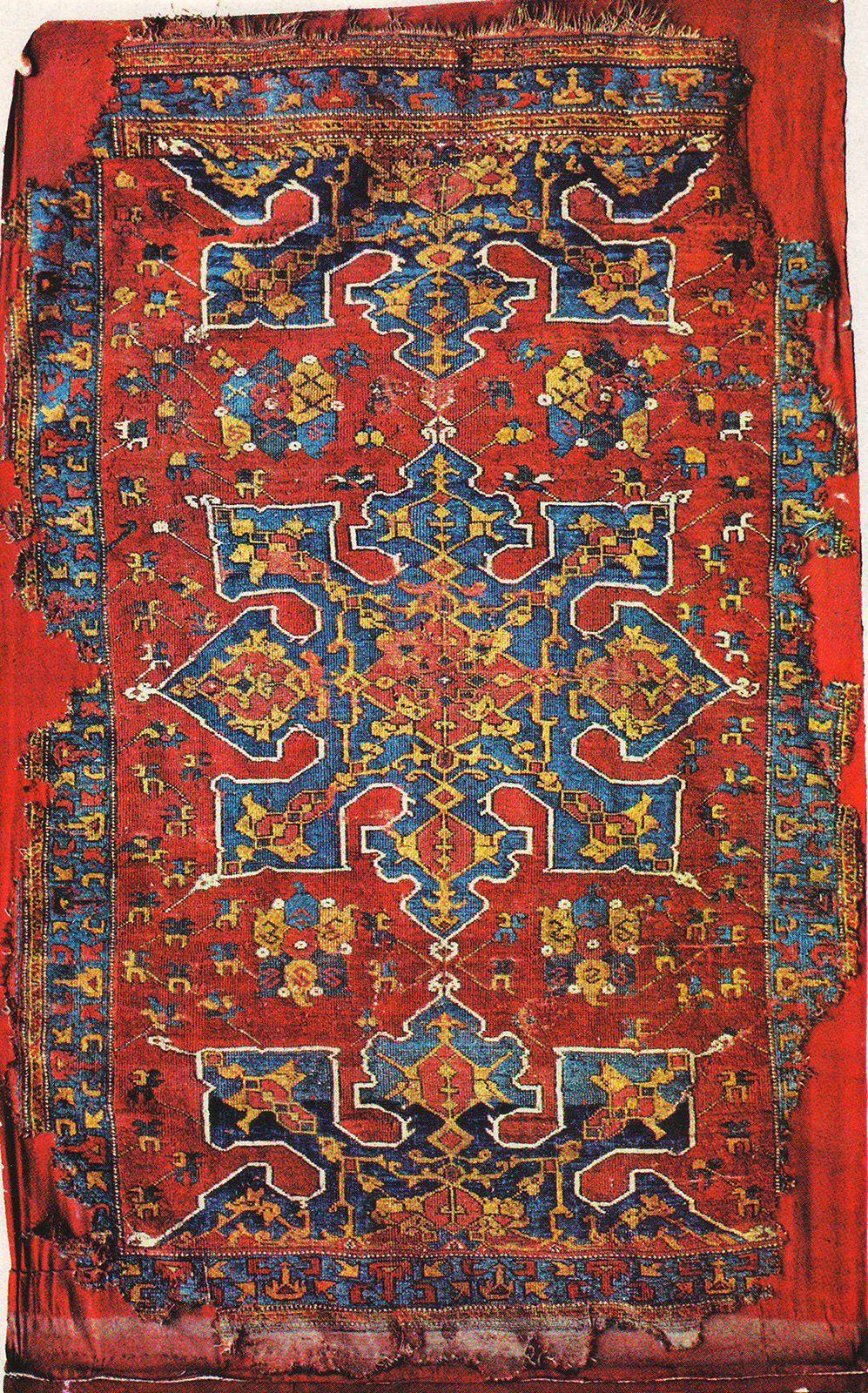 Star Ushak rug, XVII (17) century, Turkey, Ottoman Empire. Turkish ...