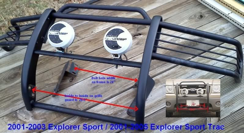 2002 x sport brush guard on 2000 Ford Explorer and