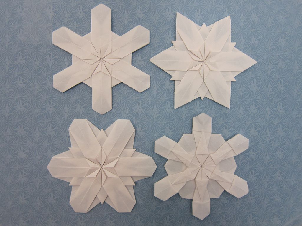 Origami Snowflakes Christmas And Diagrams Tomoko Fuse Designer Kunio Suzuki Easy To Enliven Your Life By Unit 1 Hexagon Paper Kami