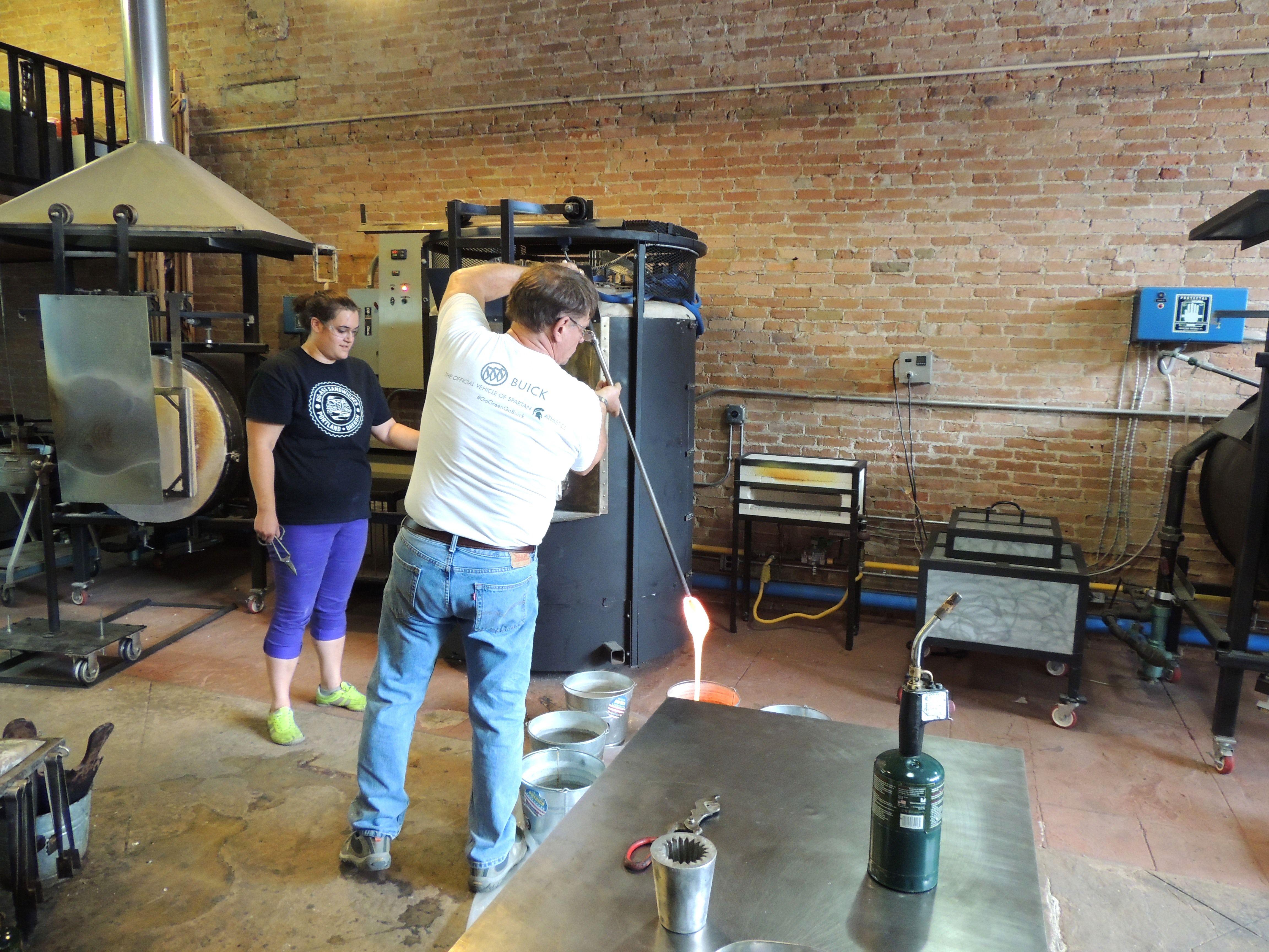 Dave Porter draining furnace Williamston Mi Lansing
