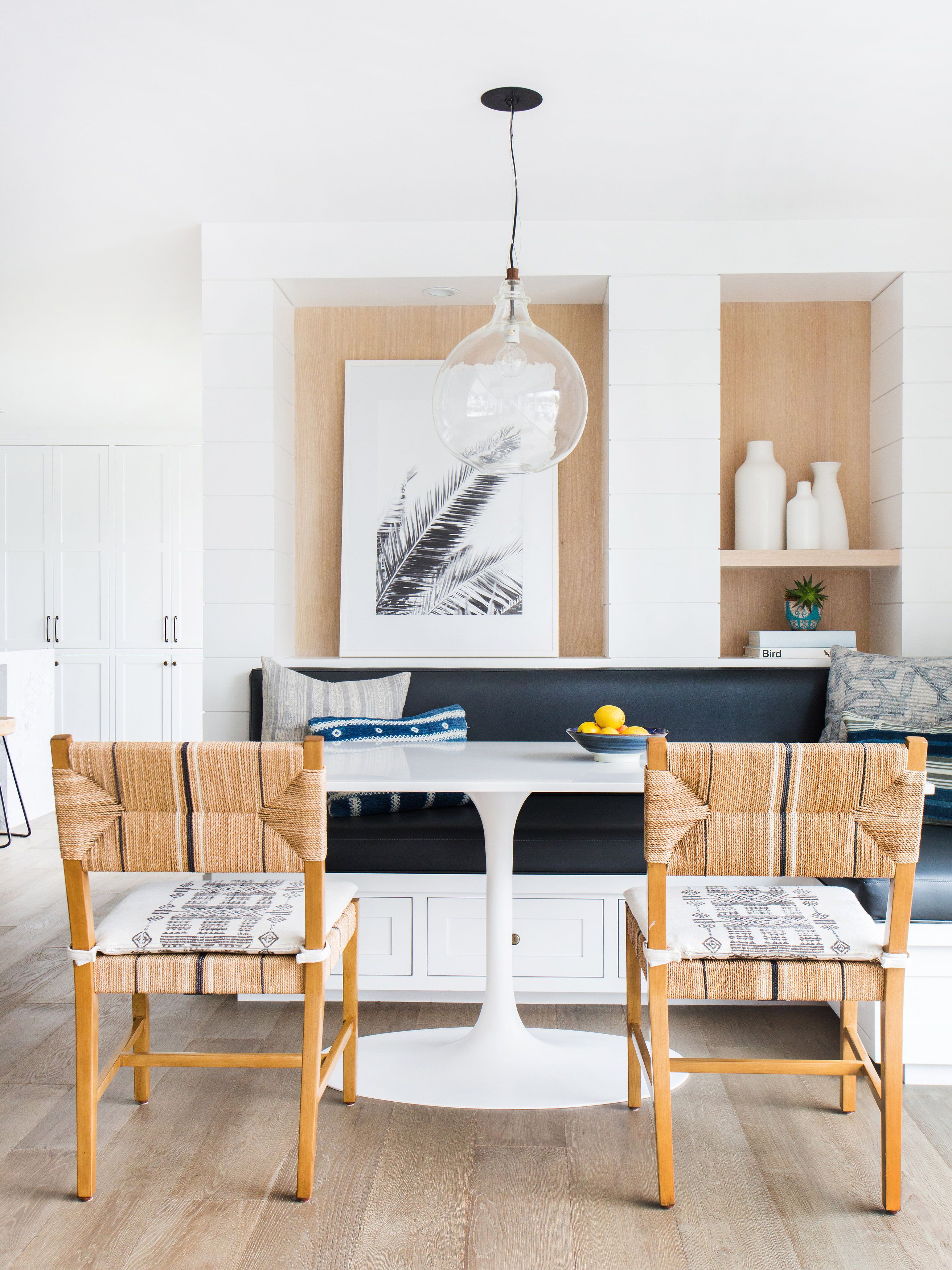 Kithcen Nook Design By Amber Interiors Carson Side Chairs Via Serenaandlily