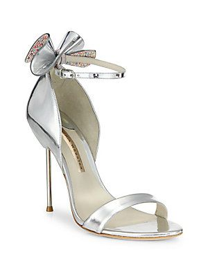 19d381c97 Sophia Webster Maya Metallic Leather Ankle-Strap Sandals