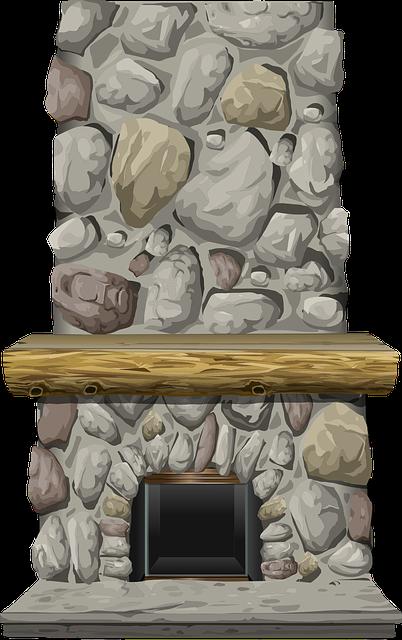 Free Image on Pixabay - Fireplace, Stone, Mantel, Heat ...