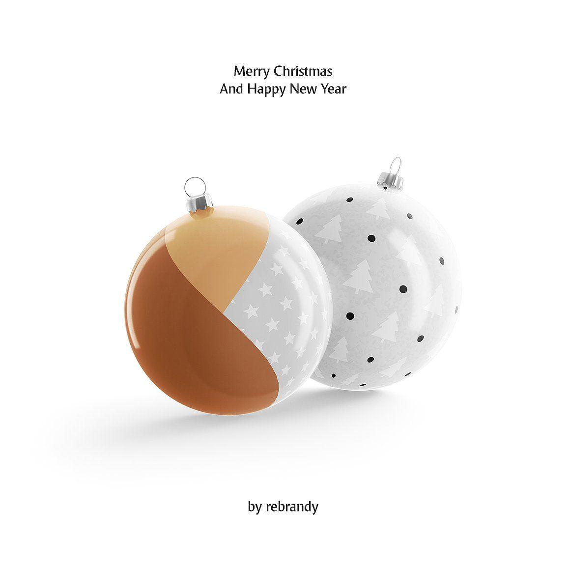 Christmas Ball Animated Mockups Set Stationery Mockup Colorful Backgrounds Christmas Balls
