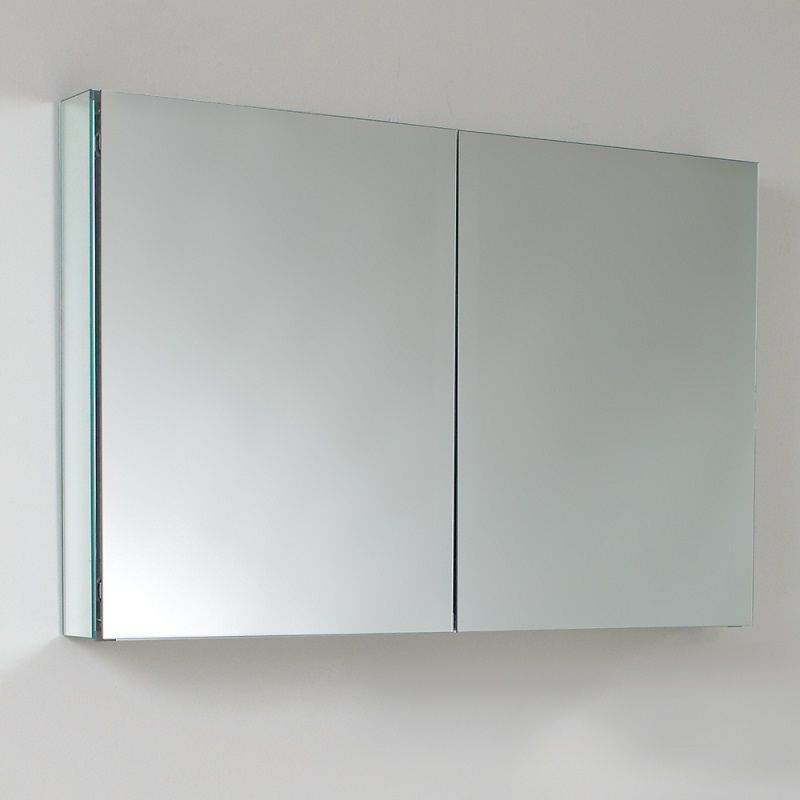 Fresca 40 Wide Bathroom Medicine Cabinet With Mirrors Bathroom Medicine Cabinet Glass Shelves Glass Shelves Kitchen