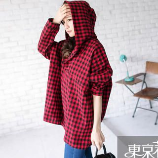 Buy 'Tokyo Fashion � Long-Sleeve Hooded V-Neck Plaid Top' with Free International Shipping at YesStyle.com. Browse and shop for thousands of Asian fashion items from Taiwan and more!