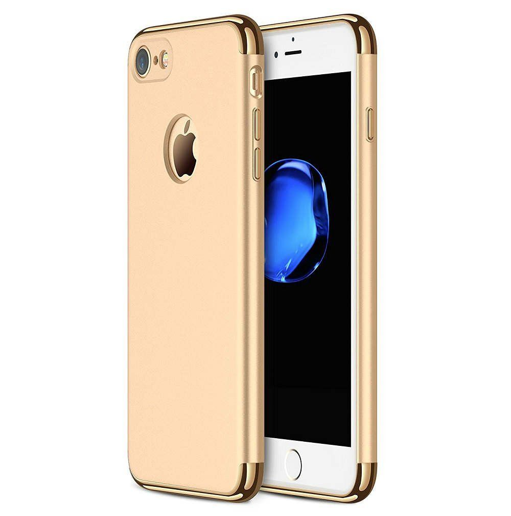 Iphone 8 Tough Electroplate Case Gold Smooth Slim Fit Full Back Cover For Iphone 7 8 Iphone Iphone 7 Plus Cases