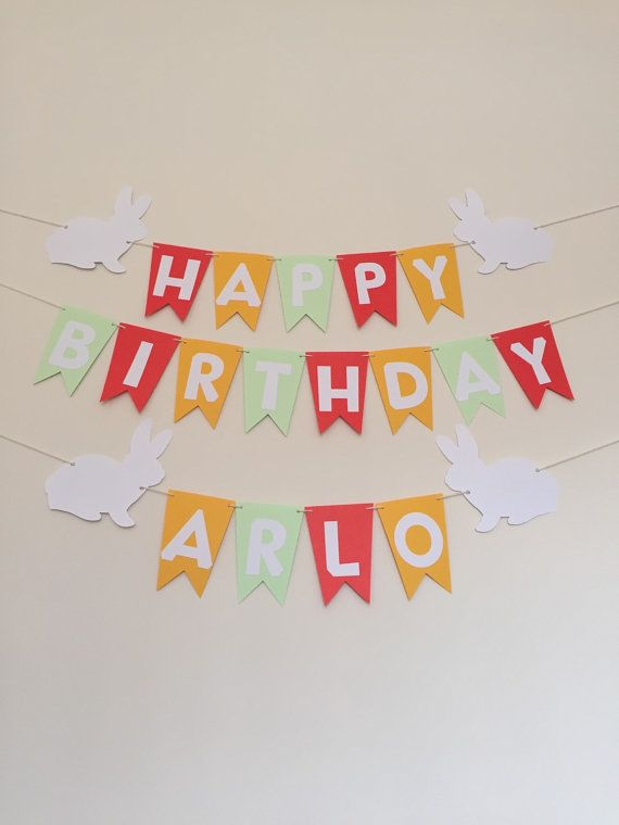 happy birthday banner name birthday banner by ericascrafties www
