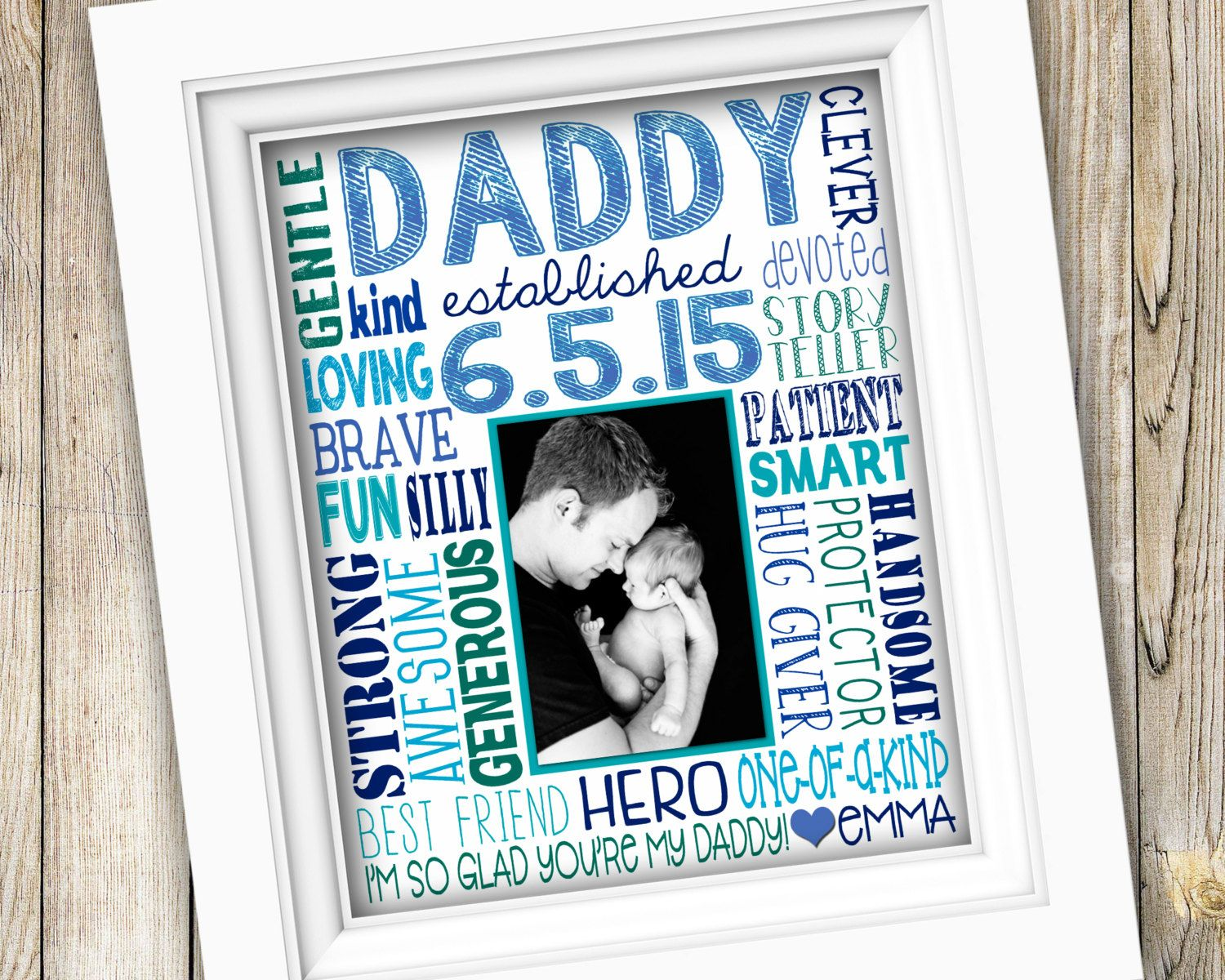 fathers day gift first time dad gift printable fathers day custom photo subway art digital image first fathers day print poster