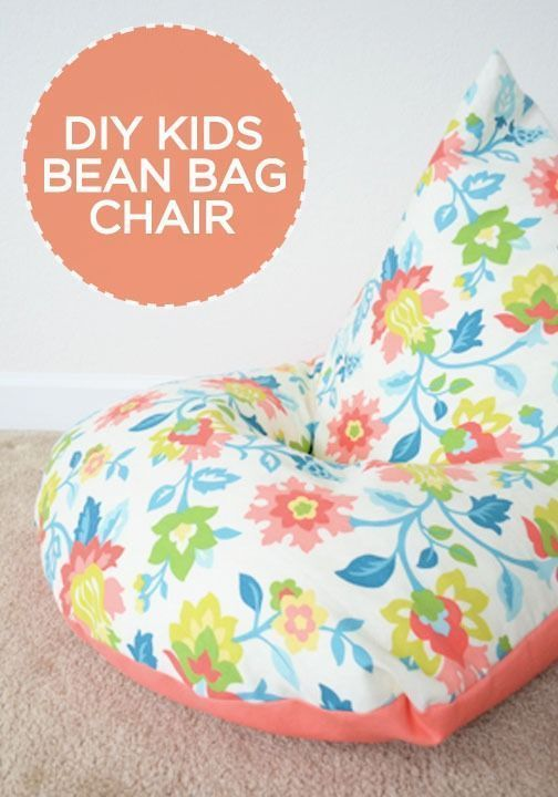 DIY: Sew a Kids Bean Bag Chair in 30 Minutes | Pinterest | Beanbag ...
