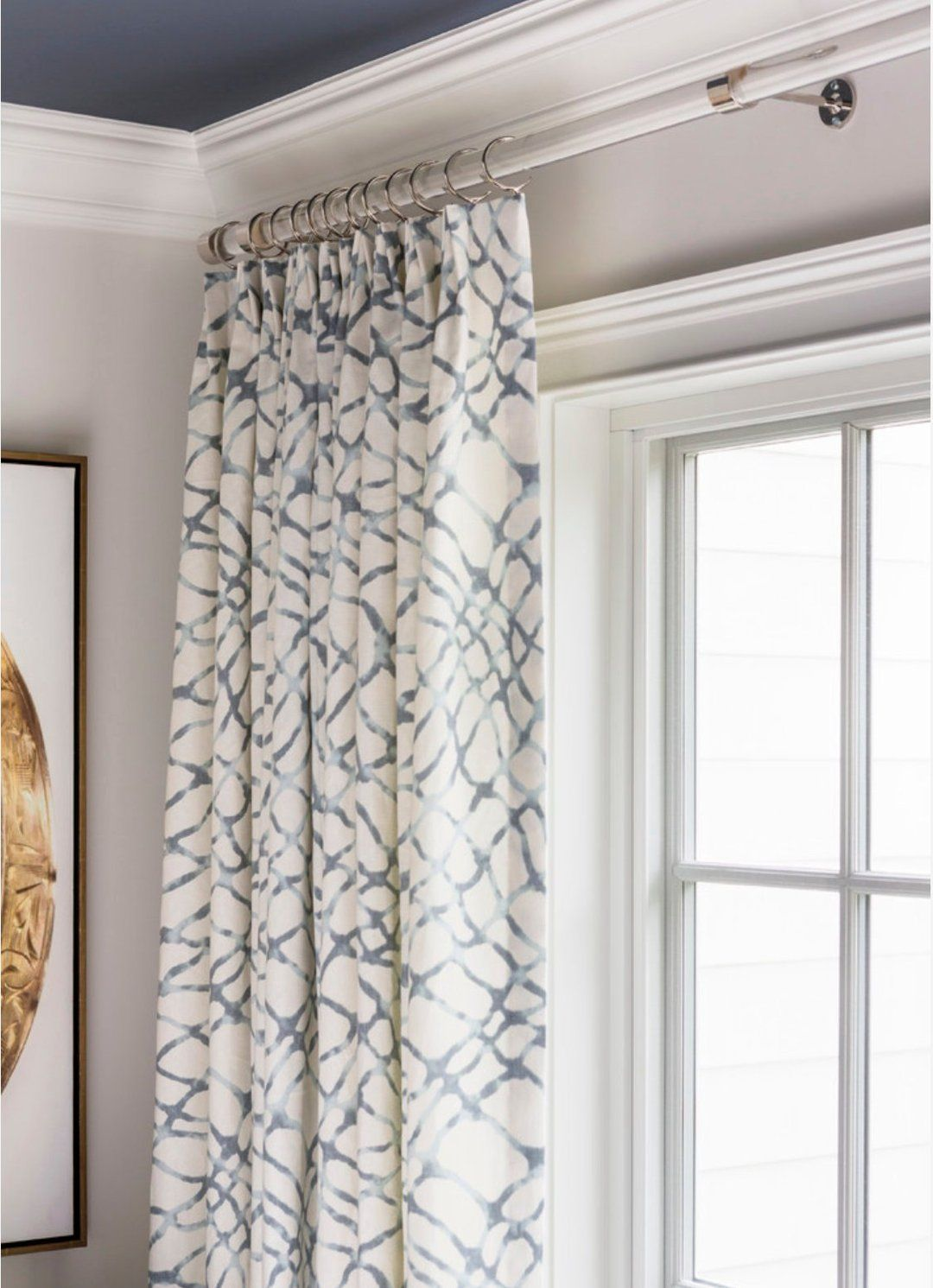 Kravet Curtains Waterpolo Jeffrey Alan Marks Grey Curtains Blue
