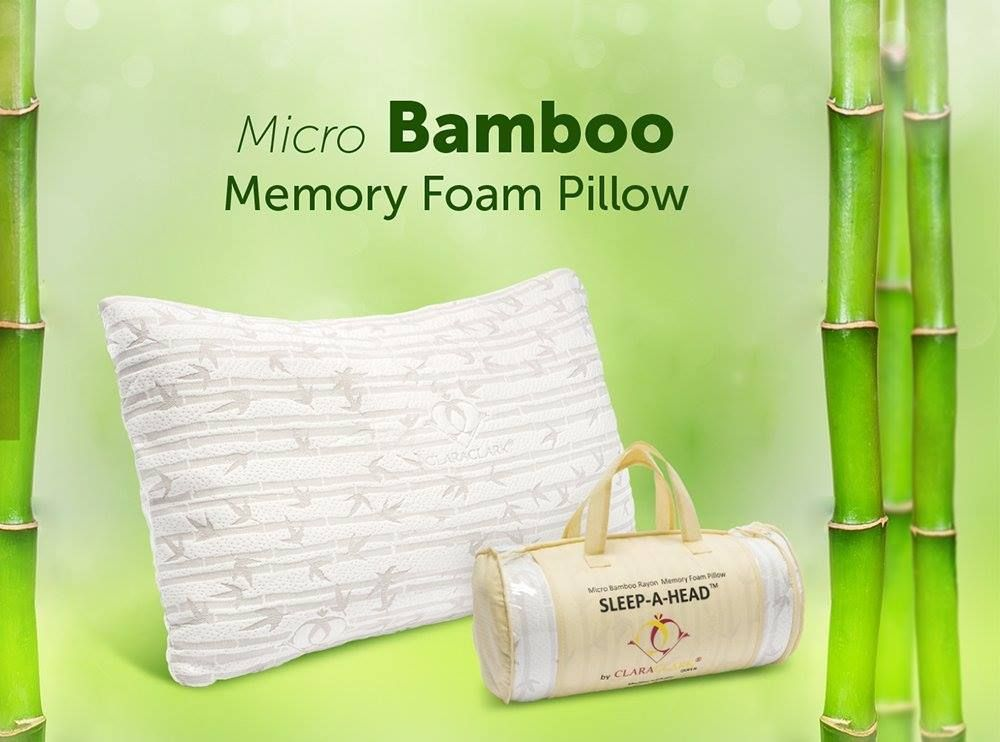 Clara Clark Bamboo Memory Foam Pillow Free Home Delivery Tax Included Standard Size 38 King Si Memory Foam