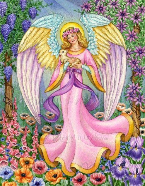 Barbara Lanza Caring Angel Arte De Angel Angeles Y Hadas Dibujos