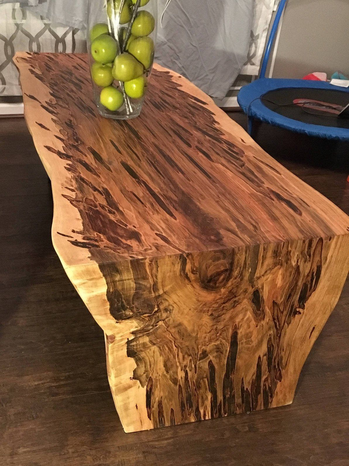 Coffee Table Waterfall Table Natural Edge Maple Coffee Table