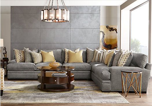 Picture Of Cindy Crawford Home Palm Springs Gray 4 Pc Sectional From