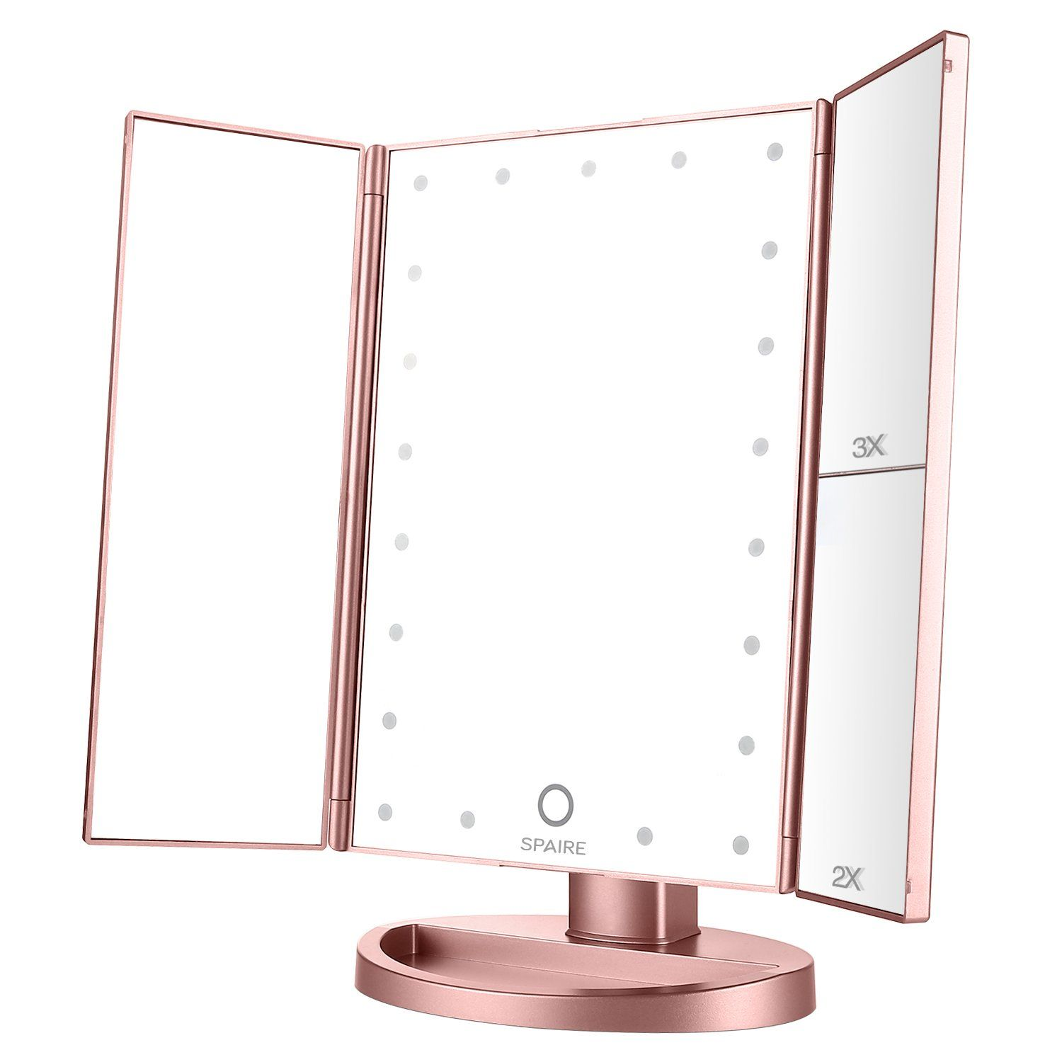 Spaire Makeup Mirror Trifold Led Light Vanity Mirror 10 85