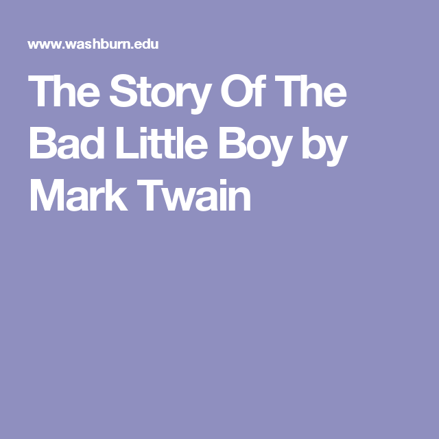 story bad little boy A short story : bad temper there once was a little boy who had a bad temper his father gave him a bag of nails and told him that every time he lost his temper, he must hammer a nail into the back of the fence.