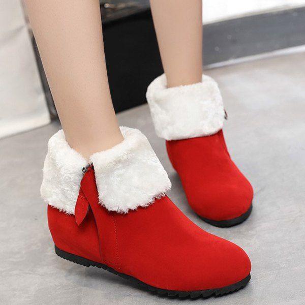 Zip Suede Increased Internal Short Boots