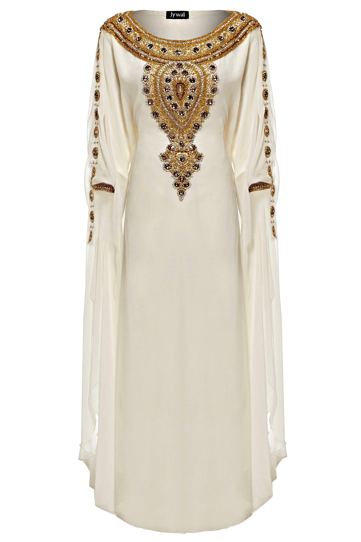 Amira Abaya Caftan Gold Embellished Kaftan Dress Kaftan Maxi