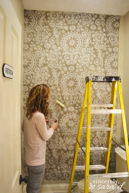 Starched Fabric Wall Sincerely Sara D Home Decor Diy